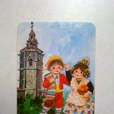 Coleccionismo Calendarios: ANTIGUO CALENDARIO PAREJA DE NIÑOS CON ROPA TIPICA VALENCIANA AÑO 1982 VALENCIA. Lote 29413789
