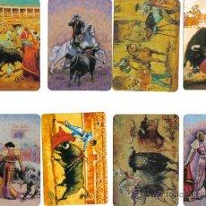 Coleccionismo Calendarios: LCA-33 8 CALENDARIOS SOBRE PINTURAS TAURINAS. Lote 29549616