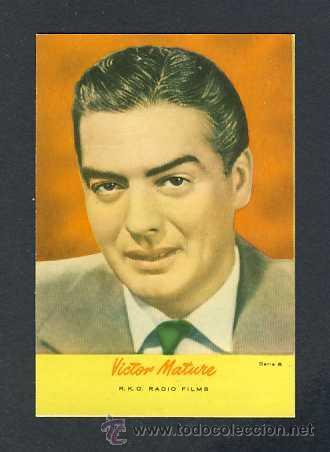 Calendario Mature.Calendario 1958 Artista De Cine Victor Mature Sold Through