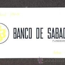 Coleccionismo Calendarios: CALENDARIO 1969 BANCO DE SABADELL EN ALUMINIO. Lote 29637882