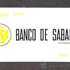 Coleccionismo Calendarios: CALENDARIO 1970 BANCO DE SABADELL EN ALUMINIO. Lote 29637890