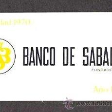 Coleccionismo Calendarios: CALENDARIO 1971 BANCO DE SABADELL EN ALUMINIO. Lote 29637897