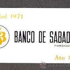 Coleccionismo Calendarios: CALENDARIO 1972 BANCO DE SABADELL EN ALUMINIO. Lote 29637906