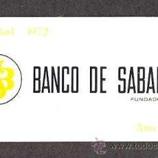 Coleccionismo Calendarios: CALENDARIO 1972 BANCO DE SABADELL EN ALUMINIO. Lote 29637912