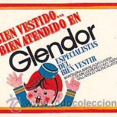 Coleccionismo Calendarios: CALENDARIO BOLSILLO GLENDOR 1969. Lote 29695275