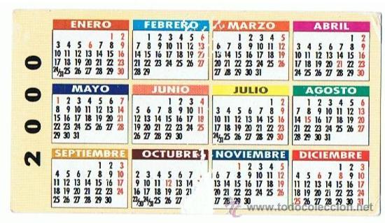 Calendario Del 2000.Ca 338 Calendario Puros Meharis Ano 2000