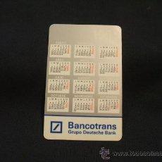 Coleccionismo Calendarios: CALENDARIO DE BOLSILLO - BANCOTRANS - GRUPO DEUTSCHE BANK - 1992. Lote 29786037