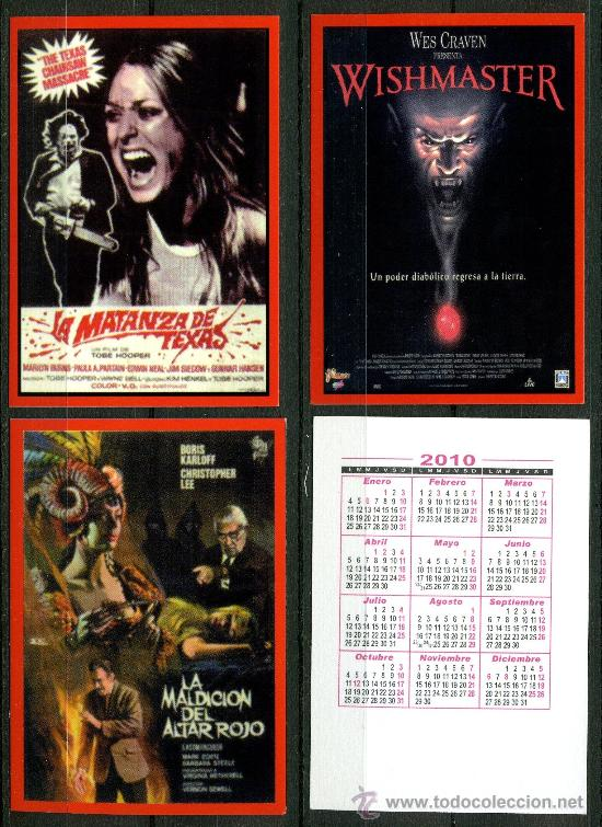 Coleccionismo Calendarios: 27 - Calendarios Bolsillo - CINE TERROR 2010 - Foto 6 - 112139186