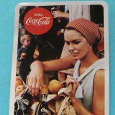 Coleccionismo Calendarios: CALENDARIO DE COCA COLA. FOURNIER. AÑO 1970. MUJER BOLSA COMPRAS. BOTELLAS, MANZANAS. . Lote 29956861