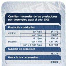 Coleccionismo Calendarios: CA-813 CALENDARIO DEL INEM AÑO 2006. Lote 29968513