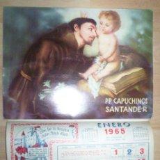 Coleccionismo Calendarios: CALENDARIO DE PARED AÑOS P CAPUCHINOS SANTANDER 1965. Lote 30205858