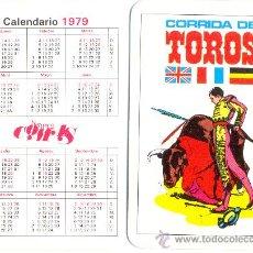 Coleccionismo Calendarios: CALENDARIO DE BOLSILLO 1979, NAPES COMAS, CORRIDA DE TOROS.. Lote 30117648