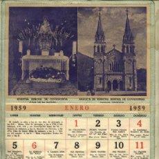 Coleccionismo Calendarios: CALENDARIO PARED 1959 CON SANTORAL COMPLETO Y LAS PATRONAS REGIONALES. Lote 30180279