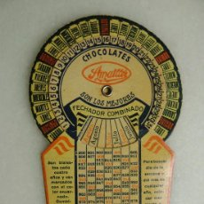 Coleccionismo Calendarios: FECHADOR COMBINADO CHOCOLATES AMATLLER. Lote 30197705