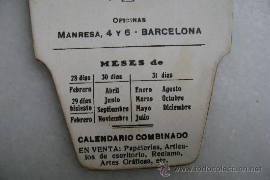 Coleccionismo Calendarios: FECHADOR COMBINADO CHOCOLATES AMATLLER - Foto 3 - 30197705