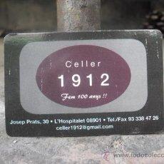 Coleccionismo Calendarios: CALENDARIO BOLSILLO 2012 - CELLER 1912 - HOSPITALET LLOBREGAT. Lote 30257263