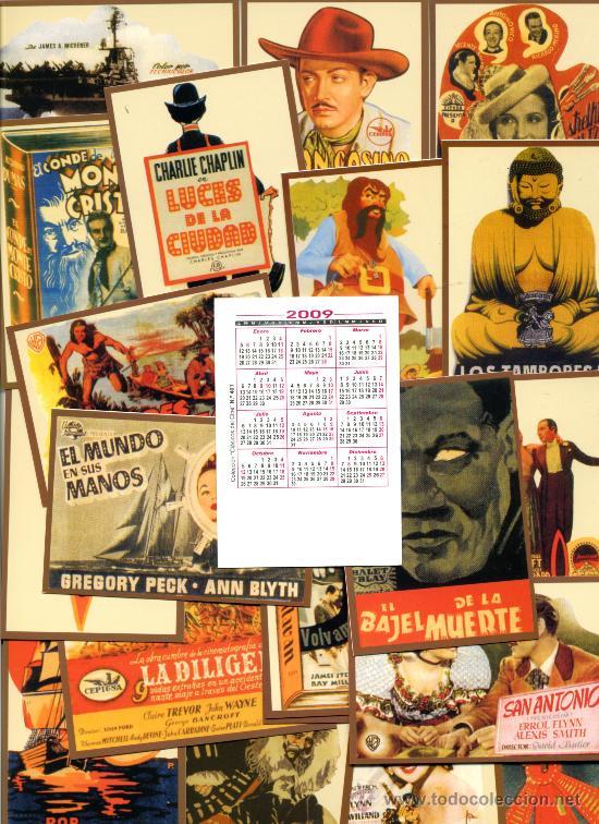 Coleccionismo Calendarios: 50 Calendarios Bolsillo - CINE 2009 - Foto 2 - 112139107