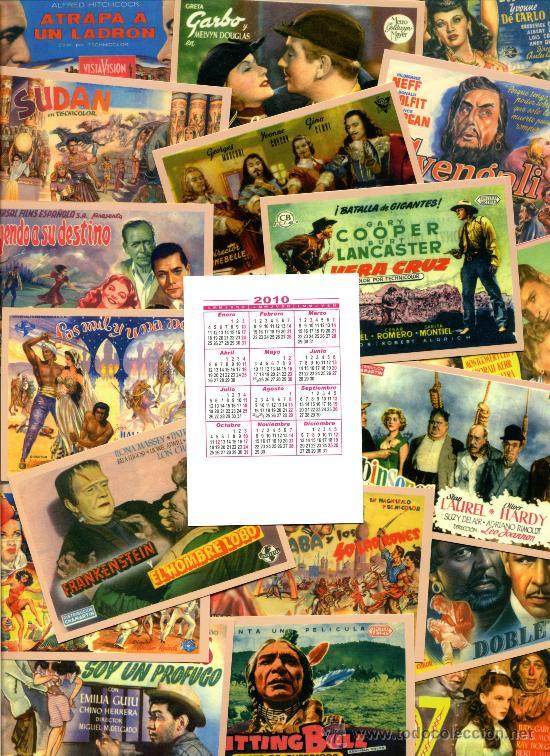Coleccionismo Calendarios: 24 Calendarios Bolsillo - CINE 2010 - Foto 2 - 112160374