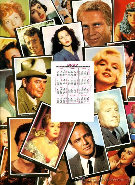 Coleccionismo Calendarios: 100 Calendarios Bolsillo Actrices y Actores - CINE - 2009 - Foto 3 - 112160211