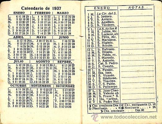 Calendario 1936.Calendario Agenda De Bolsillo 1936 Soler Torra Sold At