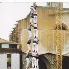 Coleccionismo Calendarios: CALENDARI DELS MINYONS DE TERRASSA DE 2001, TRES DE DEU AMB FOLRE I MANILLES, CASTELLERS. Lote 30550823