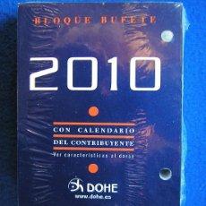 Coleccionismo Calendarios: RECAMBIO SIN ESTRENAR PARA CALENDARIO SOBREMESA DE TACO O BLOQUE BUFETE-DOHE- AÑO 2010. Lote 30694279