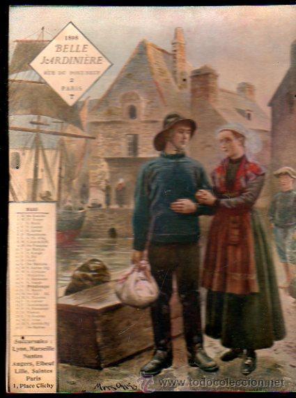 Coleccionismo Calendarios: E. GRASSET, CALENDARIO DE 1898 DE LA BELLE JARDINIERE, 15 POR 20.5CM - Foto 10 - 30729829
