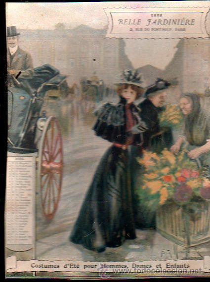 Coleccionismo Calendarios: E. GRASSET, CALENDARIO DE 1898 DE LA BELLE JARDINIERE, 15 POR 20.5CM - Foto 9 - 30729829