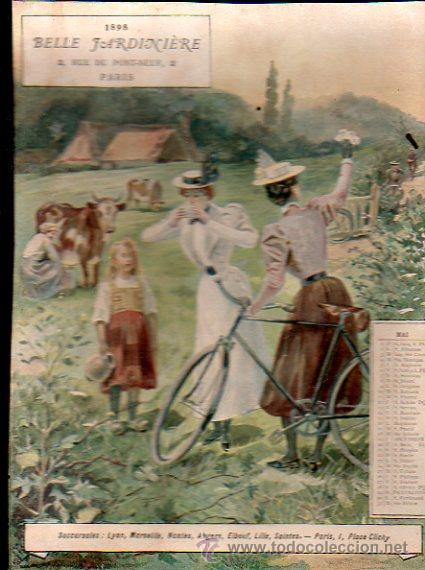 Coleccionismo Calendarios: E. GRASSET, CALENDARIO DE 1898 DE LA BELLE JARDINIERE, 15 POR 20.5CM - Foto 8 - 30729829