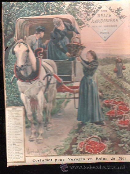 Coleccionismo Calendarios: E. GRASSET, CALENDARIO DE 1898 DE LA BELLE JARDINIERE, 15 POR 20.5CM - Foto 7 - 30729829