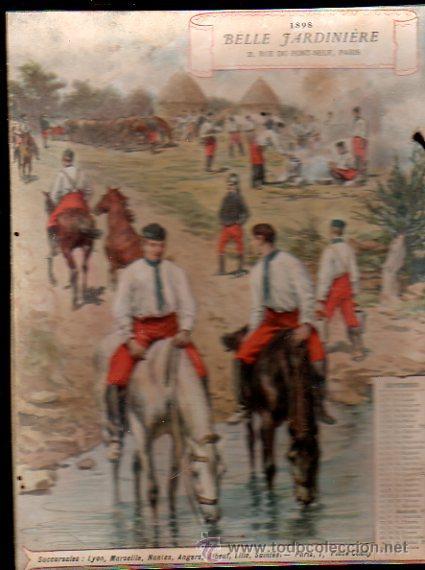 Coleccionismo Calendarios: E. GRASSET, CALENDARIO DE 1898 DE LA BELLE JARDINIERE, 15 POR 20.5CM - Foto 4 - 30729829