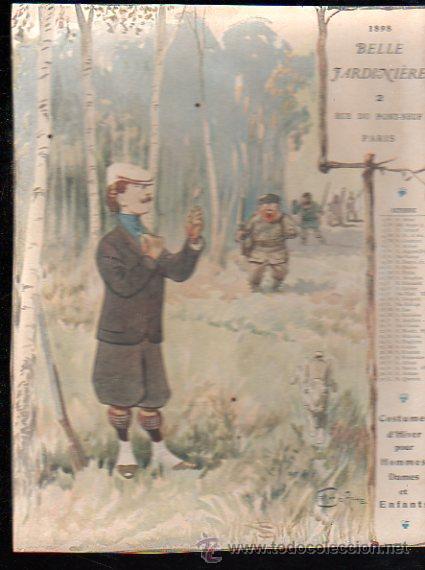 Coleccionismo Calendarios: E. GRASSET, CALENDARIO DE 1898 DE LA BELLE JARDINIERE, 15 POR 20.5CM - Foto 3 - 30729829