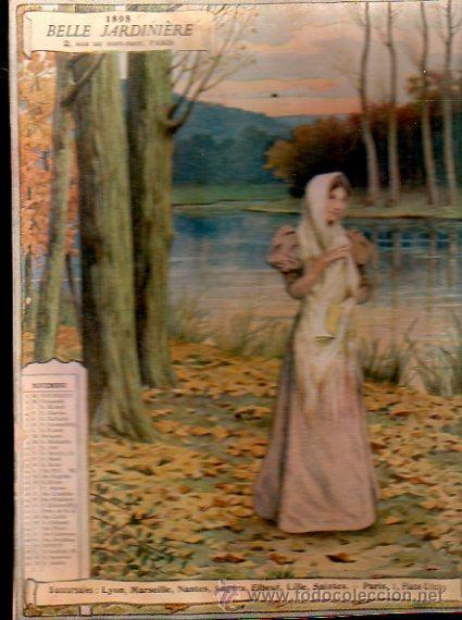 Coleccionismo Calendarios: E. GRASSET, CALENDARIO DE 1898 DE LA BELLE JARDINIERE, 15 POR 20.5CM - Foto 2 - 30729829