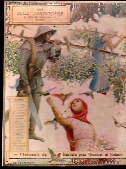 Coleccionismo Calendarios: E. GRASSET, CALENDARIO DE 1898 DE LA BELLE JARDINIERE, 15 POR 20.5CM - Foto 12 - 30729829