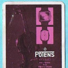 Coleccionismo Calendarios: CALENDARIO FOURNIER RELOJ SUIZO POTENS, 1974.. Lote 30797864