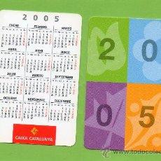 Coleccionismo Calendarios: CALENDARIO BOLSILLO. 2005. CAIXA CATALUNYA. CAJA CATALUÑA. CASTELLANO. BANCO. BANCOS.. Lote 31299240