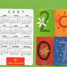 Coleccionismo Calendarios: CALENDARIO BOLSILLO. 2007. CAIXA CATALUNYA. CAJA CATALUÑA. CATALAN. BANCO. BANCOS.. Lote 30914355