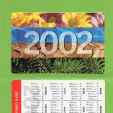 Coleccionismo Calendarios: CALENDARIO BOLSILLO. 2002. CAIXA CATALUNYA. CAJA CATALUÑA. CATALAN. BANCO. BANCOS.. Lote 30914492