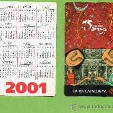 Coleccionismo Calendarios: CALENDARIO BOLSILLO. 2001. CAIXA CATALUNYA. CAJA CATALUÑA. CATALAN. BANCO. BANCOS.. Lote 30914523