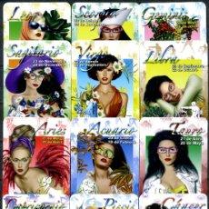 Coleccionismo Calendarios: 12 CALENDARIOS DE BOLSILLO - HOROSCOPOS 2007. Lote 112454734