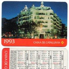 Coleccionismo Calendarios: CALENDARIO BOLSILLO. 1993. CAIXA CATALUNYA. CAJA CATALUÑA. CATALAN. BANCO. BANCOS. GAUDI. LA PEDRERA. Lote 30916868