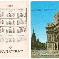 Coleccionismo Calendarios: CALENDARIO BOLSILLO. 1987. CAIXA CATALUNYA. CAJA CATALUÑA. CATALAN. BANCO.BANCOS. CATEDRAL BARCELONA. Lote 30916980