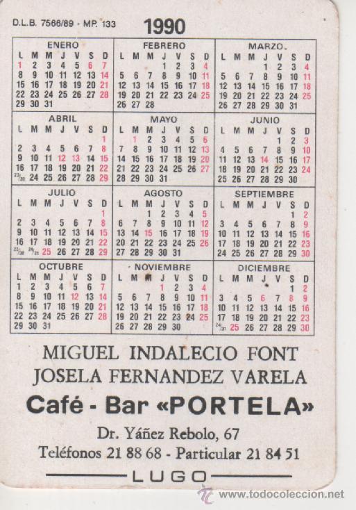 1990 Calendario.Calendario 1990 Serie Humor Chistes Picantes