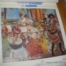 Coleccionismo Calendarios: JOAQUIN SOROLLA, ALMANAQUE DE LA GENERAL, GRANADA.. Lote 31003500