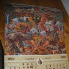 Coleccionismo Calendarios: ZABALETA, REGOYOS, FORTUNY, SOROLLA Y SOLANA. CAJA GENERAL DE AHORROS DE GRANADA.. Lote 31003768