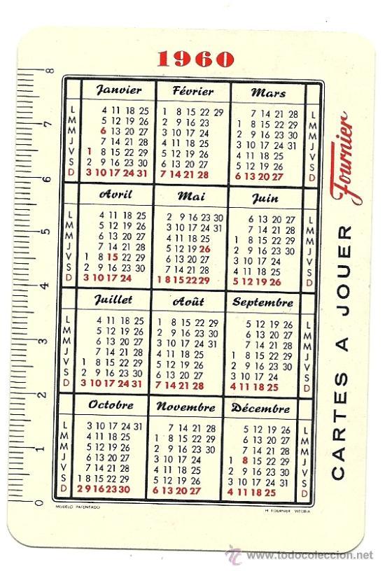 Calendario 1960.Calendario 1960 Fournier De La Propia Editoria Sold