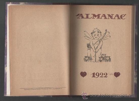 ALMANAC DE L'ESQUELLA DE LA TORRATXA ANY 1922 (Coleccionismo - Calendarios)