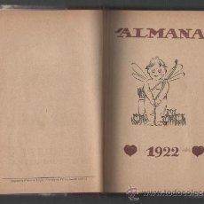 Coleccionismo Calendarios: ALMANAC DE L'ESQUELLA DE LA TORRATXA ANY 1922. Lote 31112087