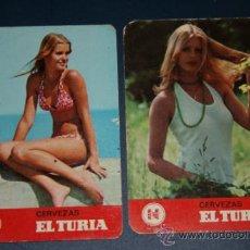 Coleccionismo Calendarios: 2 CALENDARIOS CERVEZAS EL TURIA, 1974. Lote 31151139