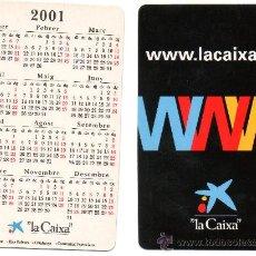 Coleccionismo Calendarios: CALENDARIO BOLSILLO LA CAIXA AÑO 2001 CATALAN CAIXABANK CAIXA BANK CAJA PENSIONES. Lote 31299852